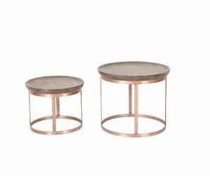 Couchtisch Set Rund : 2er set beistelltisch rund kupfer couchtisch rund kupfer ~ Whattoseeinmadrid.com Haus und Dekorationen