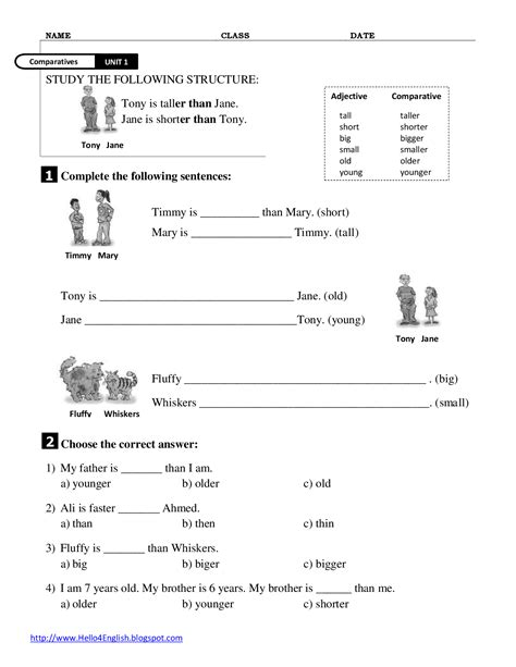 16 Best Images Of Adjectives That Compare Worksheets  Comparative Adjectives Worksheets 3rd
