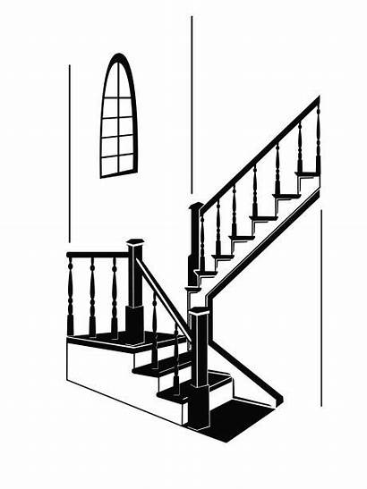 Staircase Stairs Vector Clip Side Illustration Clipart