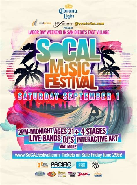 Sports, live music, arts, theater, dining, nightlife and more! SoCAL Music Festival, September 1, 2012