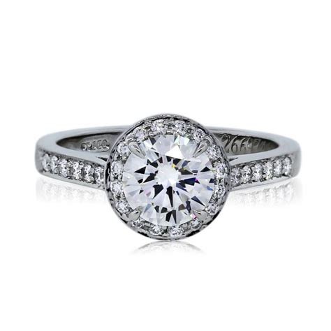and co wedding rings co platinum 1 01ct brilliant halo 7998