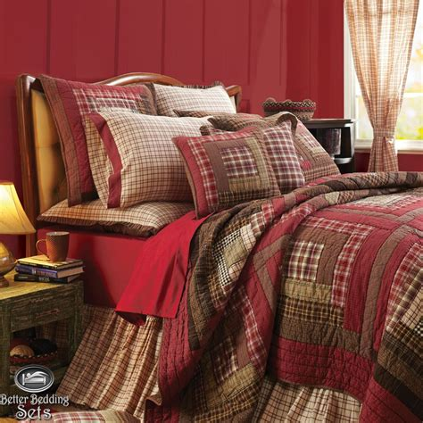 Bedroom Quilt Sets by Country Rustic Log Cabin Cal King Quilt