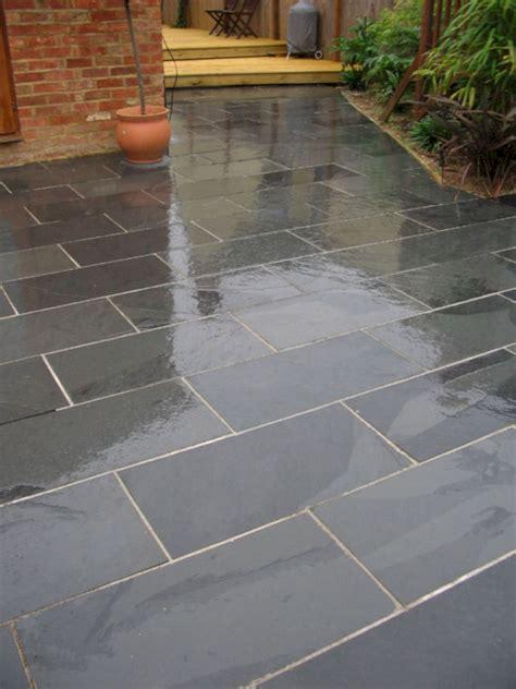 black slate tile outdoor patio freshouz