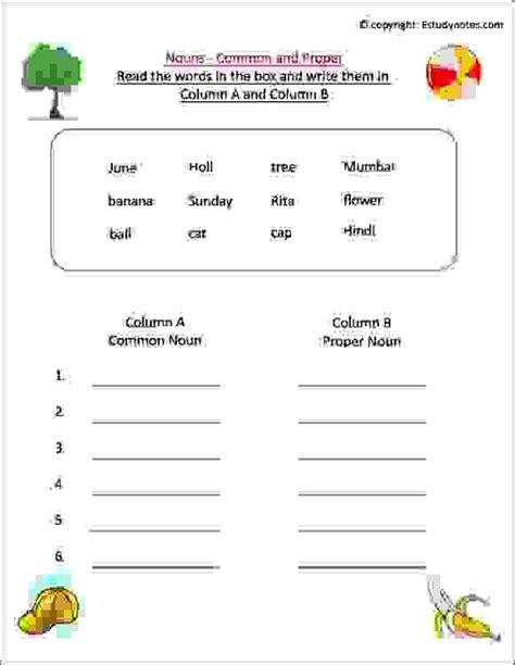 noun worksheet  grade  esl worksheets  class
