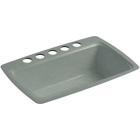 kitchen sink mounting kohler cape dory undermount cast iron 33 in 5 single 5864