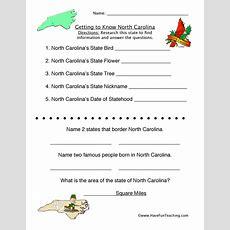 North Carolina Worksheets  Have Fun Teaching