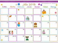 Calendario Multicolor Julio 2018 Calendario Multicolor