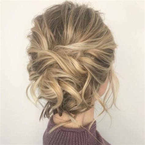 easy updo hairstyles  medium length hair