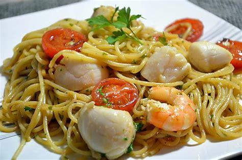 pates aux noix de jacques 100 images recette de spaghettis aux jacques et aux crevettes la