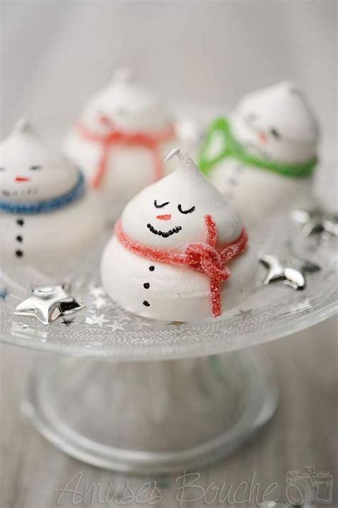 bonhommes de neige en meringue des meringues pour