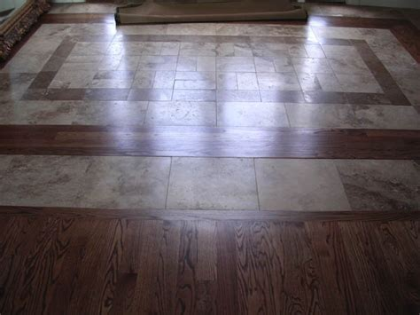 two shade travertine tiles with border combined with