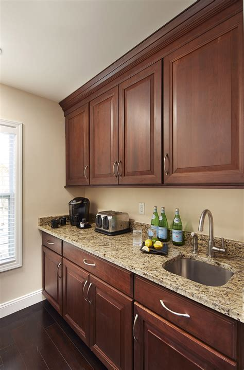 cherry shaker cabinets kitchen remodeling