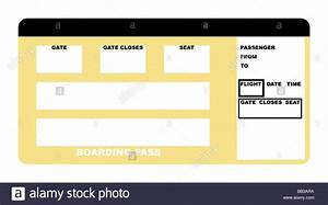 Airline Boarding Pass Stock Photos Airline Boarding Pass