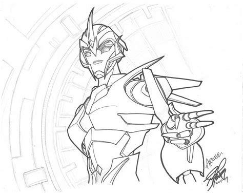 arcee transformers prime yukinyon deviantart  coloring pages