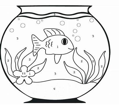 Fish Coloring Bowl Drawing Simple Pages Church