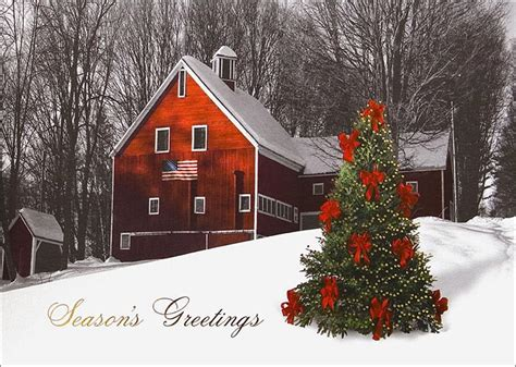 farmhouse christmas red farmhouse christmas christmas trees from cardsdirect
