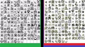 Sprites comparison between Pokemon Green & its updates ...