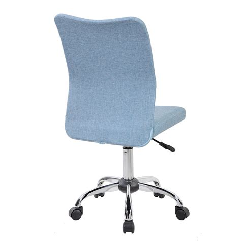 techni mobili modern armless desk chair in blue jean rta