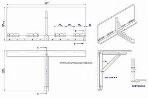 Wall-mounted drop-leaf folding table plan