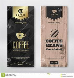 packaging design for coffee cartoon vector cartoondealer With coffee bag label template