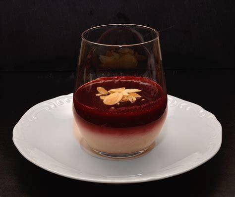 cuisine santé recettes panna cotta cerises amandes par ma cuisine santé