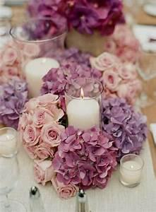 Tisch Blumen Hochzeit : frische blumen am tisch rosa lila rosen bl ten kerzen inlovewithdsign hochzeitsdeko ~ Orissabook.com Haus und Dekorationen