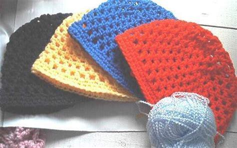 custom hand crochet mesh beanie skull cap hat xs xl