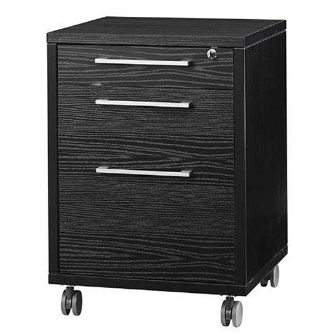 black wood two drawer file cabinet 3 drawer wood mobile filing cabinet in black wood grain