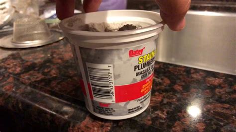kitchen sink putty how to use plumber s putty to seal kitchen sink drain