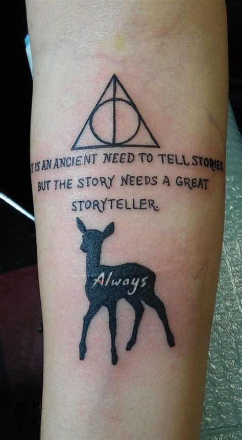 deathly hallows tattoo  quote creativefan