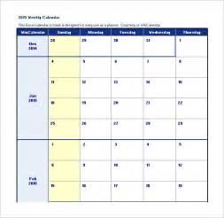 Calendar Schedule Template Excel