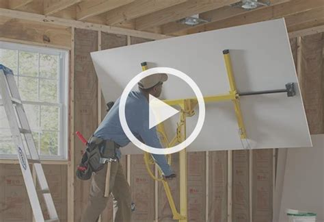 Hanging Drywall On Ceiling Tips by How To Install A Wall At The Home Depot