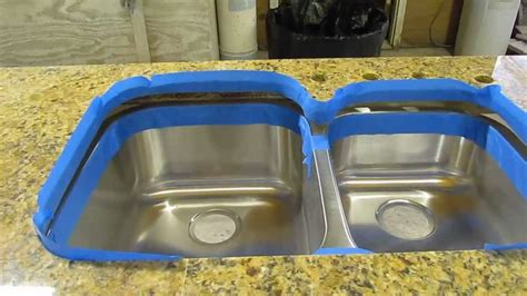 how to install undermount kitchen sink to granite how to install an undermount sink to a granite countertop