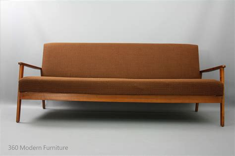 Retro Sleeper Sofa by Mid Century Modern Sofa Bed Lounge 3 Seater Click Clack