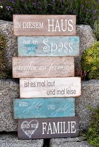 Sprüche Auf Holz : familienschild 1 kunst pinterest schilder deko und spr che ~ Orissabook.com Haus und Dekorationen