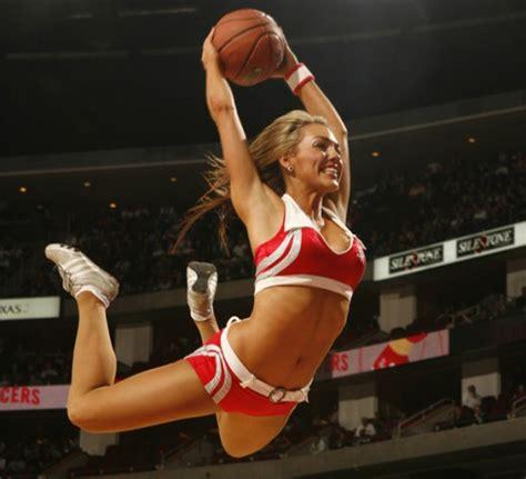 cheerleaders caught  guard