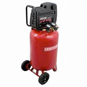 Craftsman 20 Gallon1 5 Hp Vertical Air Compressor 150 Max Psi