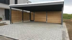 Design Carport Holz : beispiele moderner doppelcarport carporthaus ~ Sanjose-hotels-ca.com Haus und Dekorationen