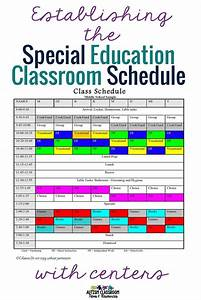 establishing the special education schedule with centers With special education schedule template