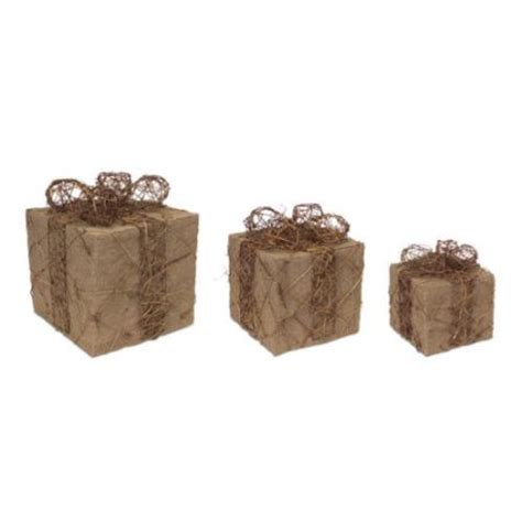 10 quot pre lit christmas package gift box with lights inside