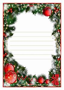 letter to santa claus paper template with lines christmas With christmas letter paper