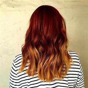 Ombré Hair Cuivré : 20 les plus chaudes rouge ombre id es de cheveux longs ~ Melissatoandfro.com Idées de Décoration