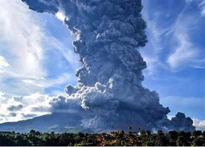 Volcano Indonesia Eruption Volcanic Sinabung Ash Mount