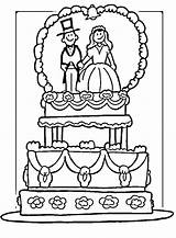 Coloring Cake sketch template