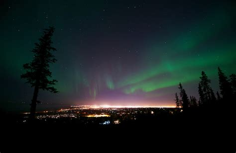 anchorage northern lights borealis chugach state park anchorage