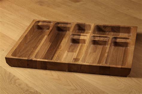 Solid Oak Cutlery Tray Insert, Solid Oak Cutlery Drawer