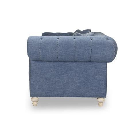 blue jean denim sofa greenwich blue denim 96 quot tufted sofa shop for affordable