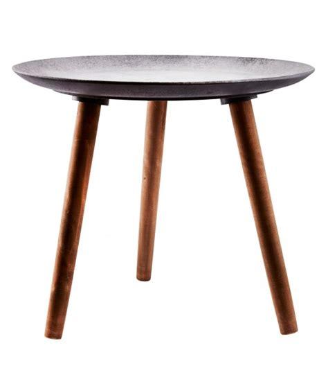 design coffee table made of wood and metal wadiga