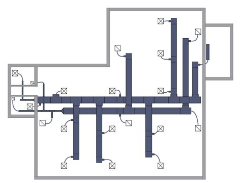using your duct system as a whole house fan hvac plans solution conceptdraw com