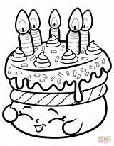 Coloring Cake Shopkin Pages Wishes Printable Paper Dot Colorings Crafts Drawing sketch template